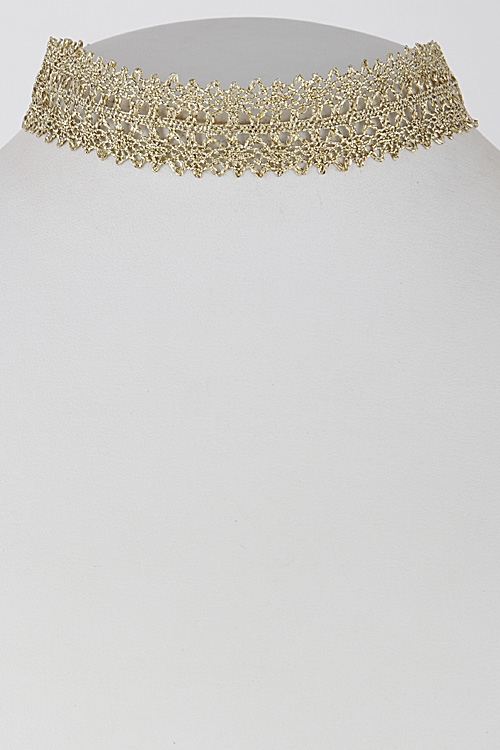 Shiny Thin Lacy Choker - orangeshine.com