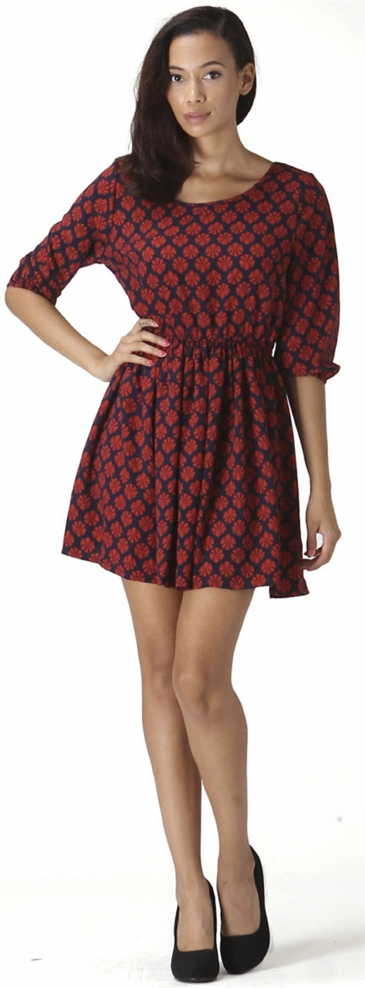 Womens Printed Dress - orangeshine.com