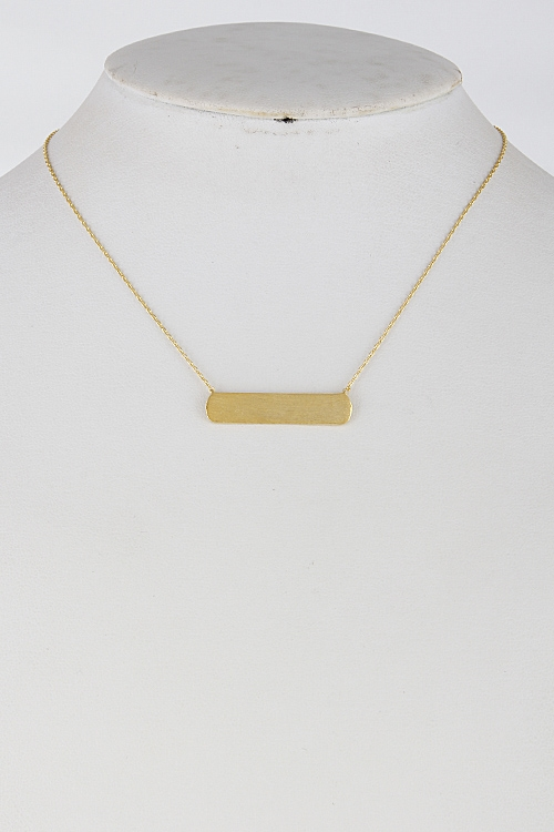 Chain Necklace with Bar - orangeshine.com