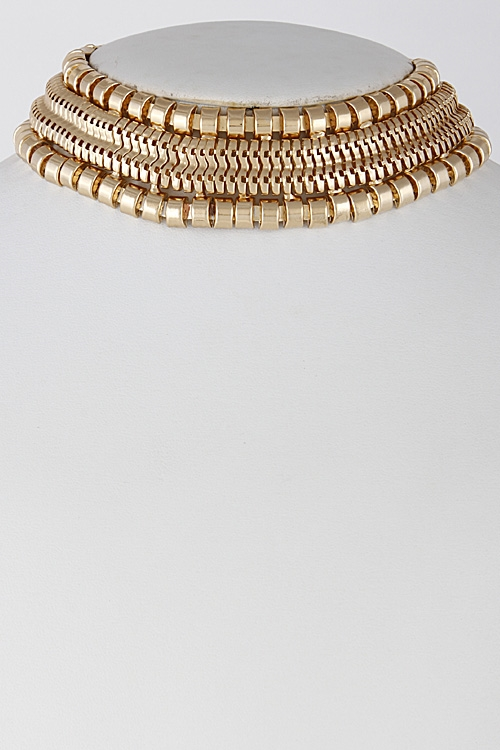 Thick Multi Choker Necklace - orangeshine.com
