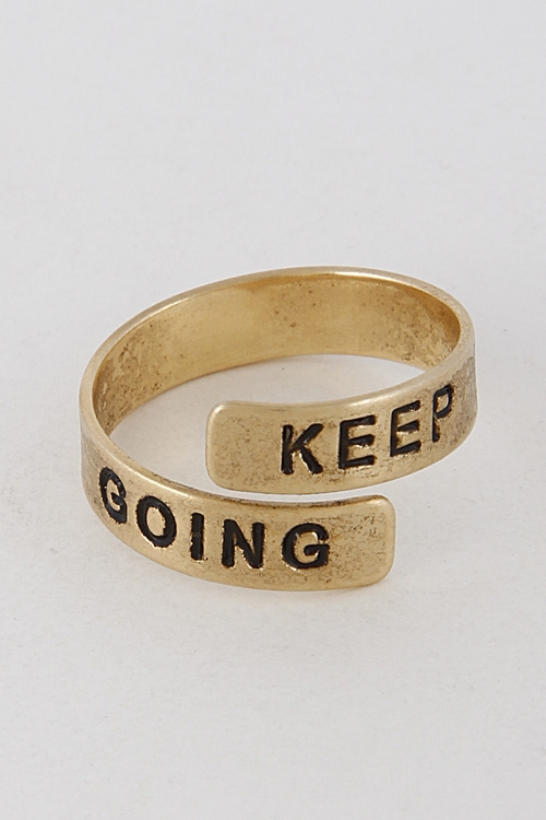 Inspirational Keep Spiral Ring - orangeshine.com