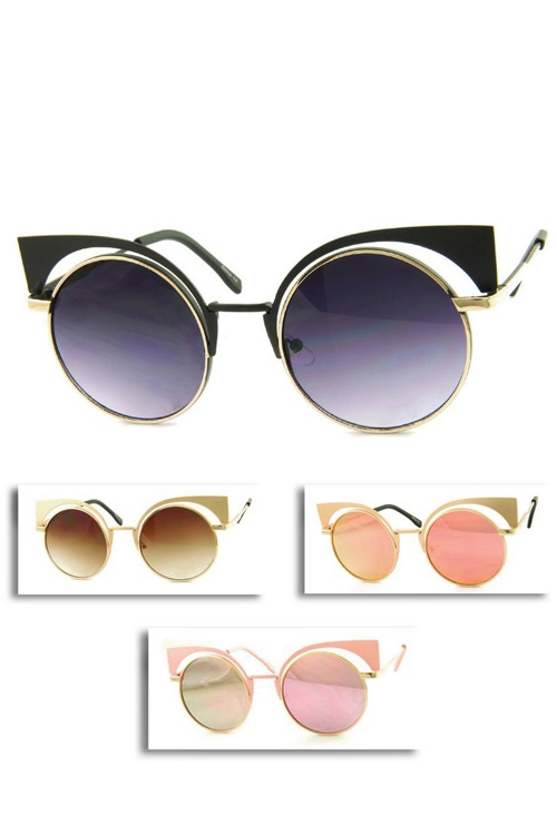 Iconic Round Sunglasses - orangeshine.com