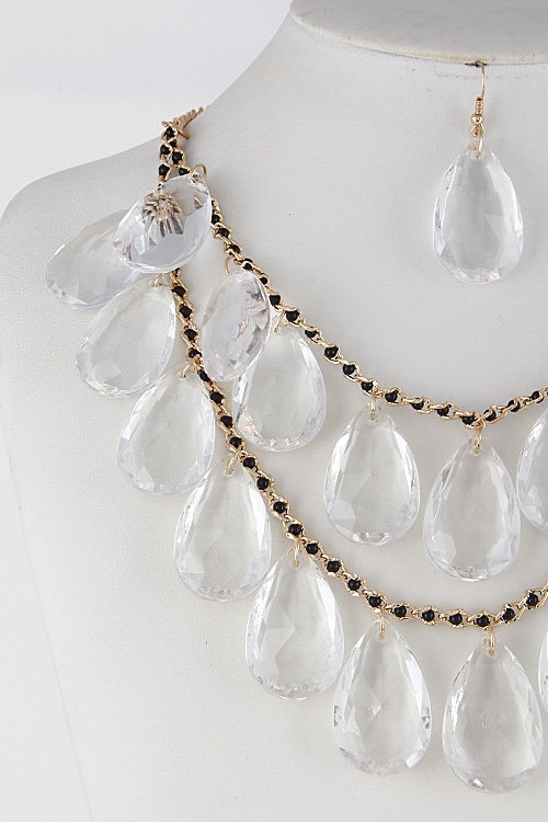 Tear Drop Statement Necklace - orangeshine.com