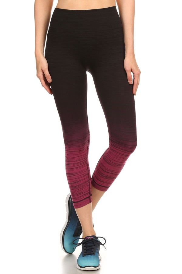Ombre Capri Sport Leggings gym - orangeshine.com