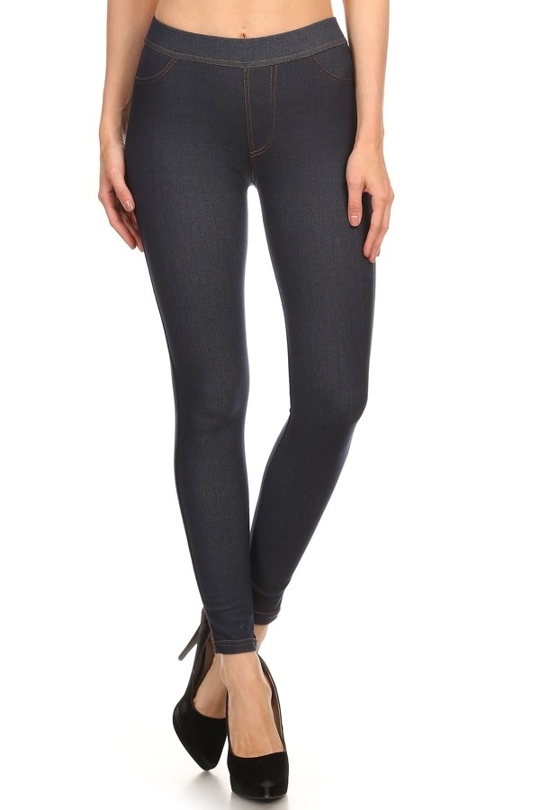 Basic Fleece Lined Leggings - orangeshine.com