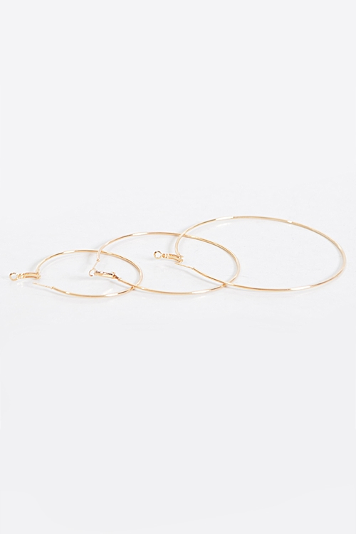 Daily Thin Earrings Set - orangeshine.com