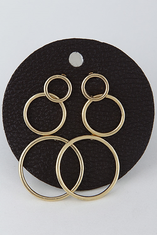Multi Circle Earrings Set - orangeshine.com