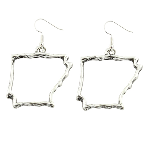 Arkansas State Map Earrings - orangeshine.com