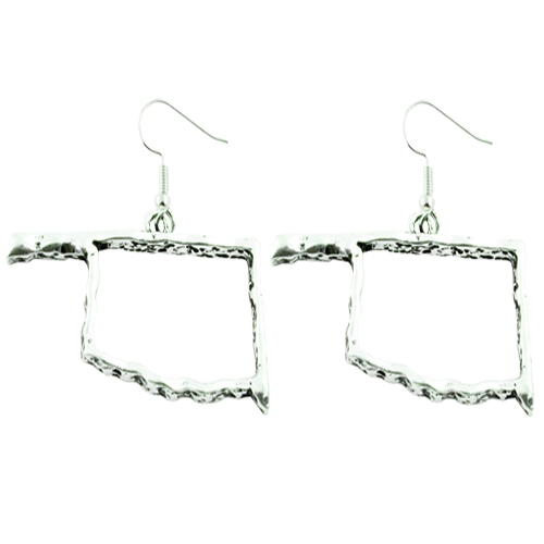 Oklahoma State Map Earrings - orangeshine.com