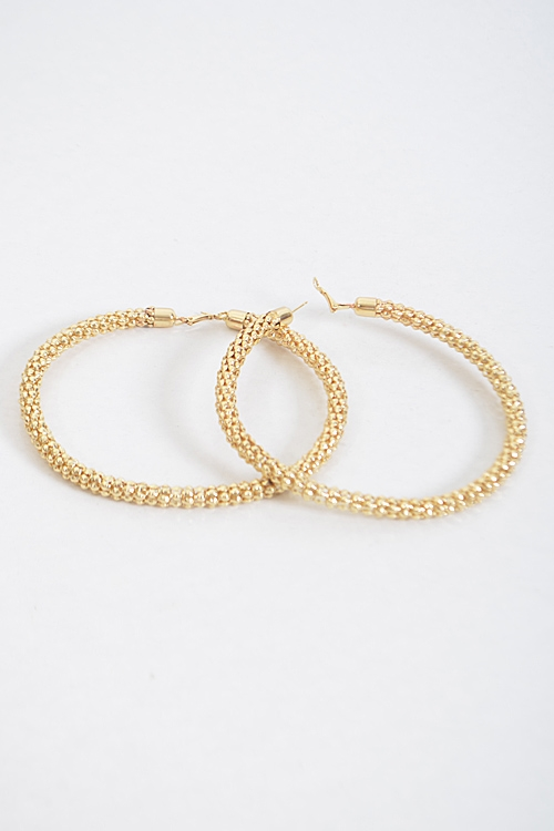 Scale Patterned Hoop Earrings - orangeshine.com