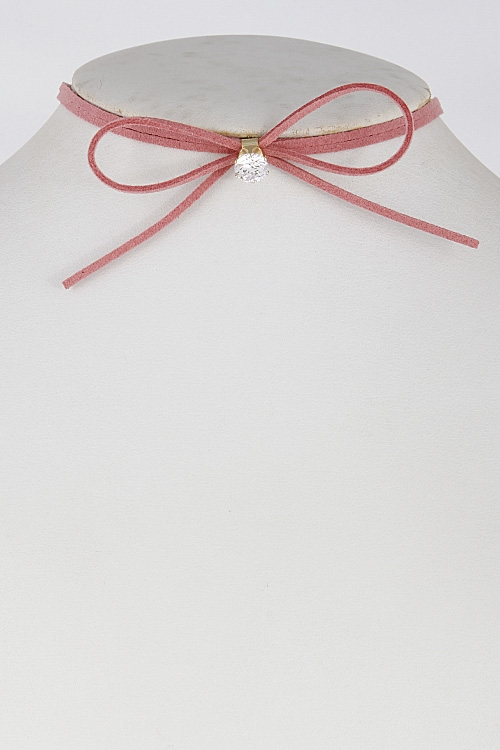 Shiny Ribbon Choker - orangeshine.com