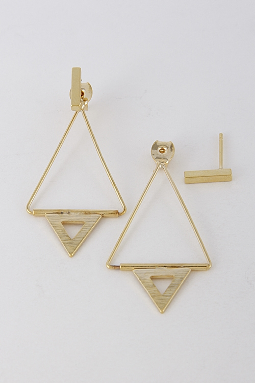 Thin Triangle Earrings - orangeshine.com