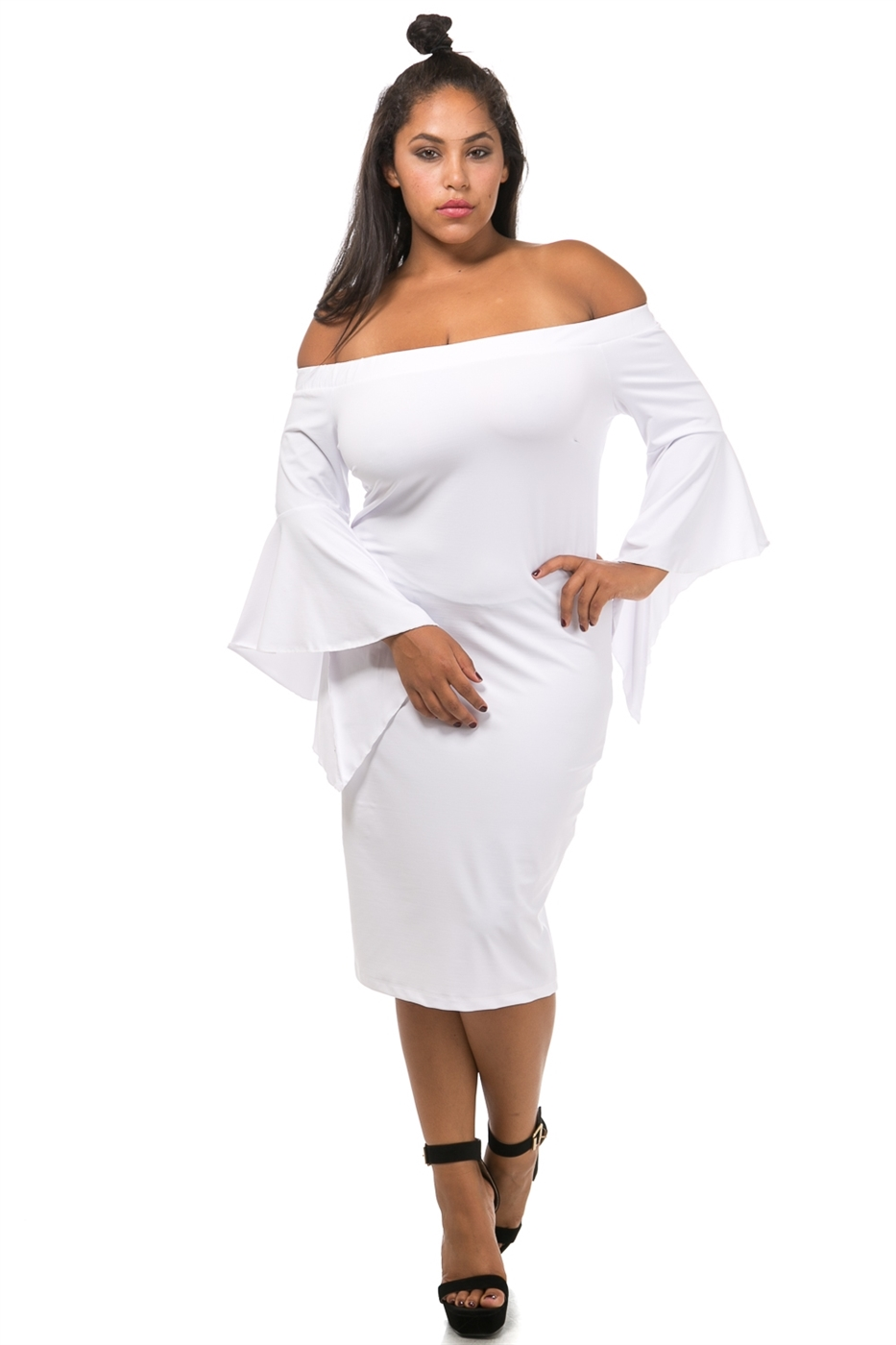 Bell sleeve off shoulder - orangeshine.com