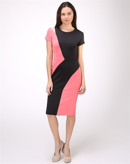 COLORBLOCK DRESS - orangeshine.com