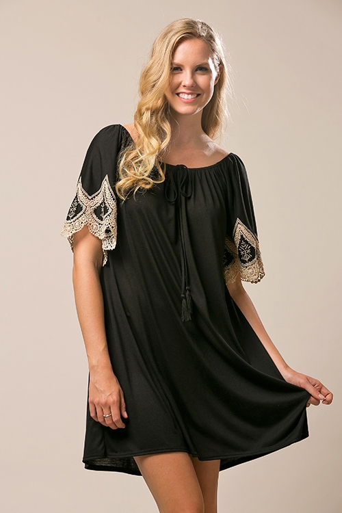 Embroidered Knit dress - orangeshine.com