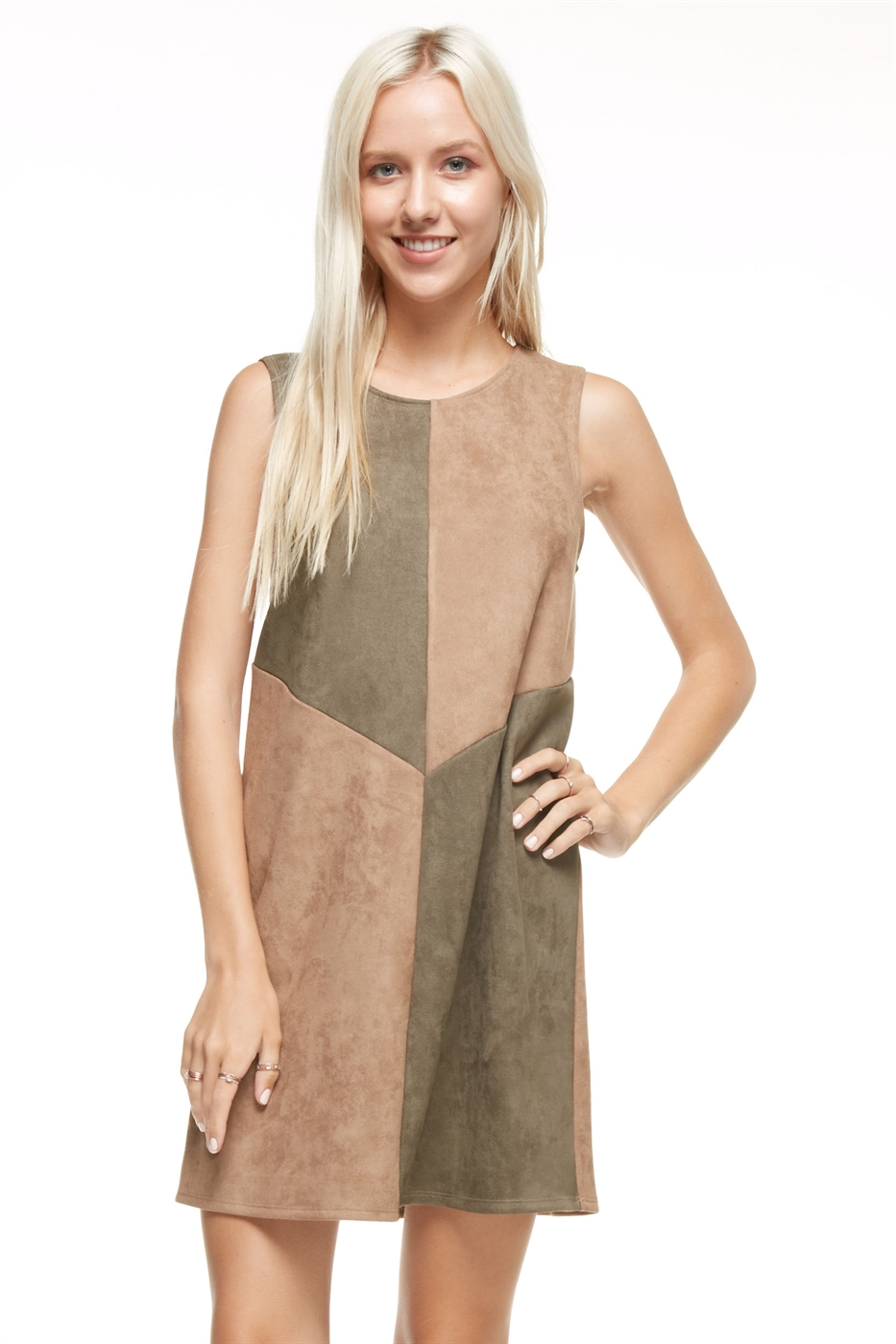 Suede Mini Dress - orangeshine.com