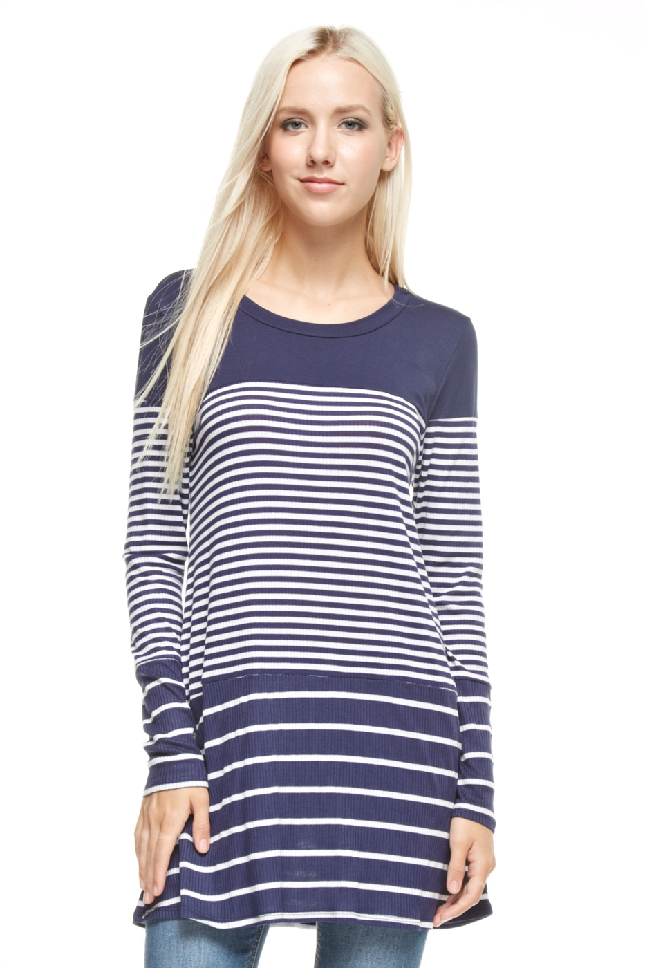 Irregular Stripe Tunic - orangeshine.com