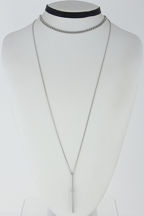 Plain Multi Chain Choker - orangeshine.com