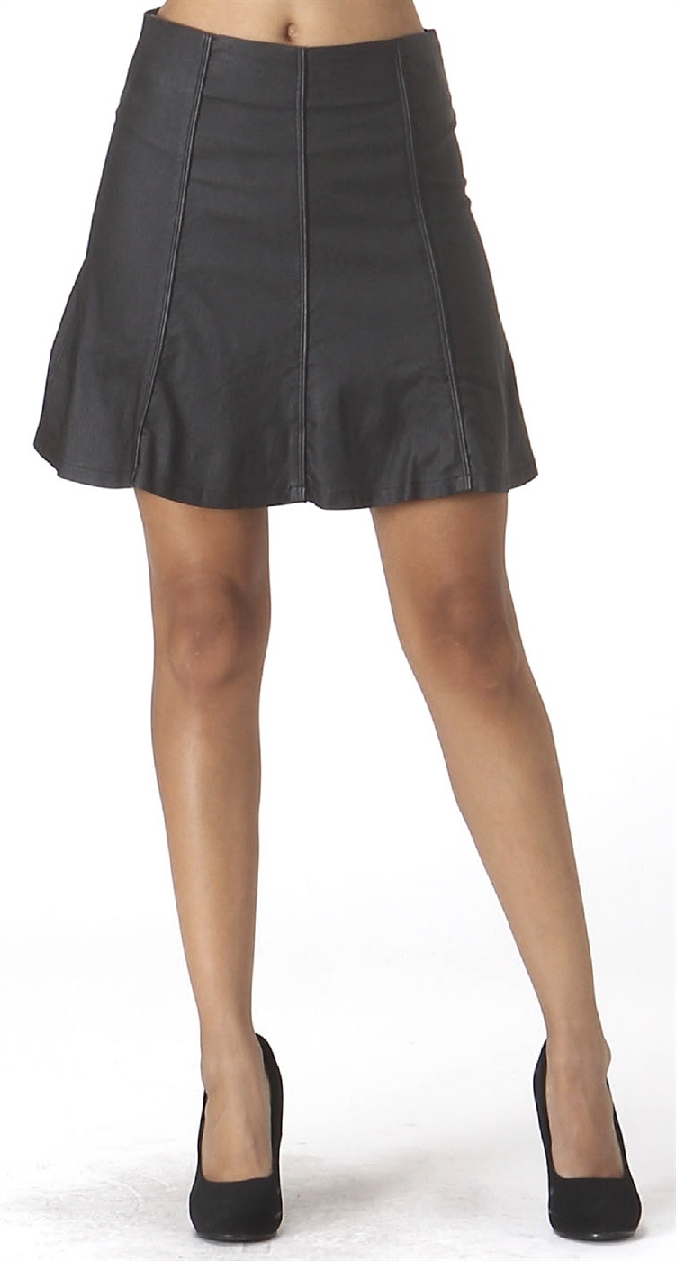 Womens Coated Paneled Skirt - orangeshine.com
