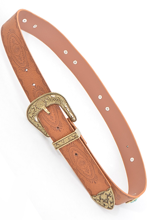 Henna Antique Stud Belt - orangeshine.com
