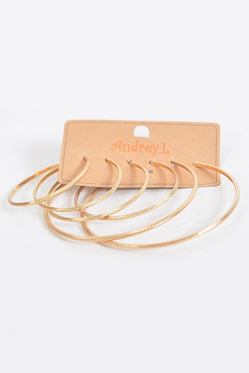 Slanted Line Hoop Earrings - orangeshine.com