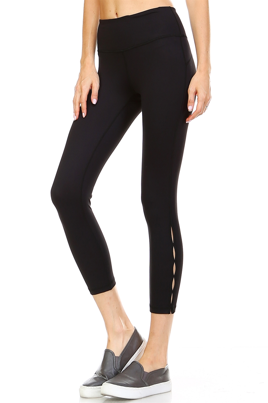 CUTOUT ACCENTS LEGGINGS - orangeshine.com