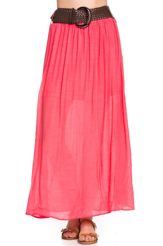 BELTED MAXI SKIRT - orangeshine.com