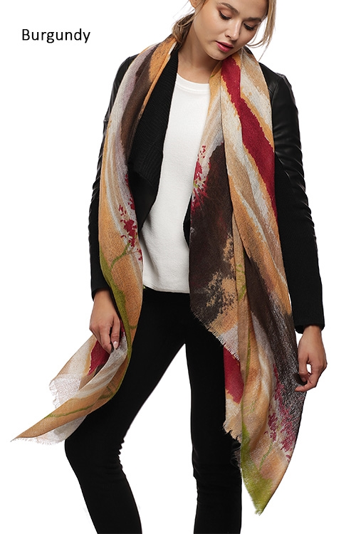 Brush Stroke Wool Scarf - orangeshine.com