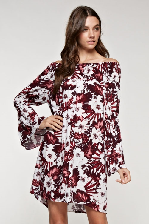 Off shoulder tunic dress - orangeshine.com