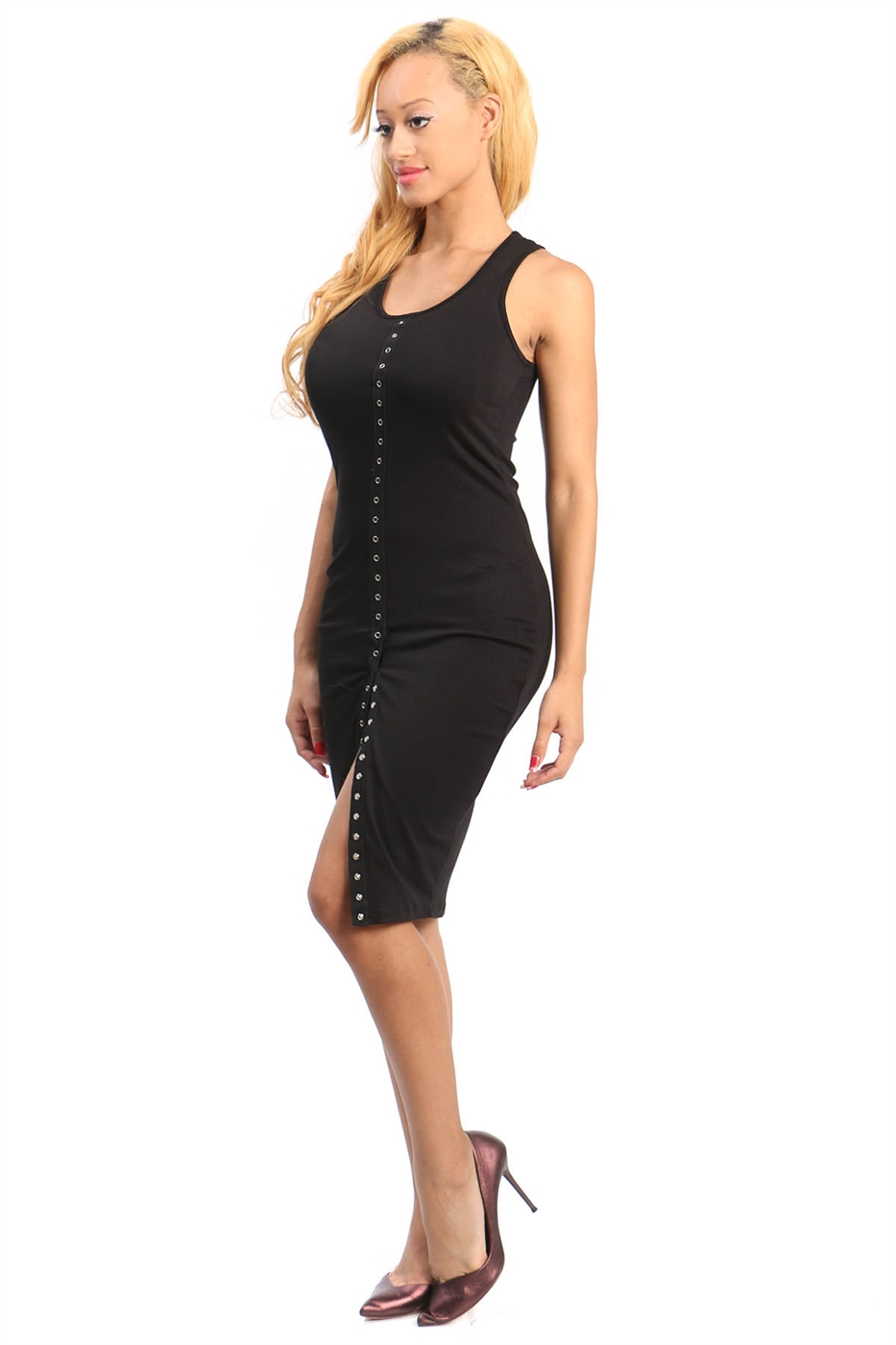 Sleeveless bodycon dress - orangeshine.com