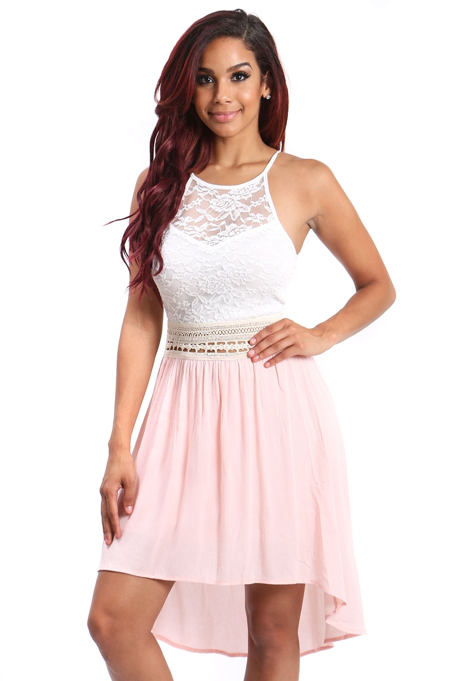 halter neck skater dress - orangeshine.com