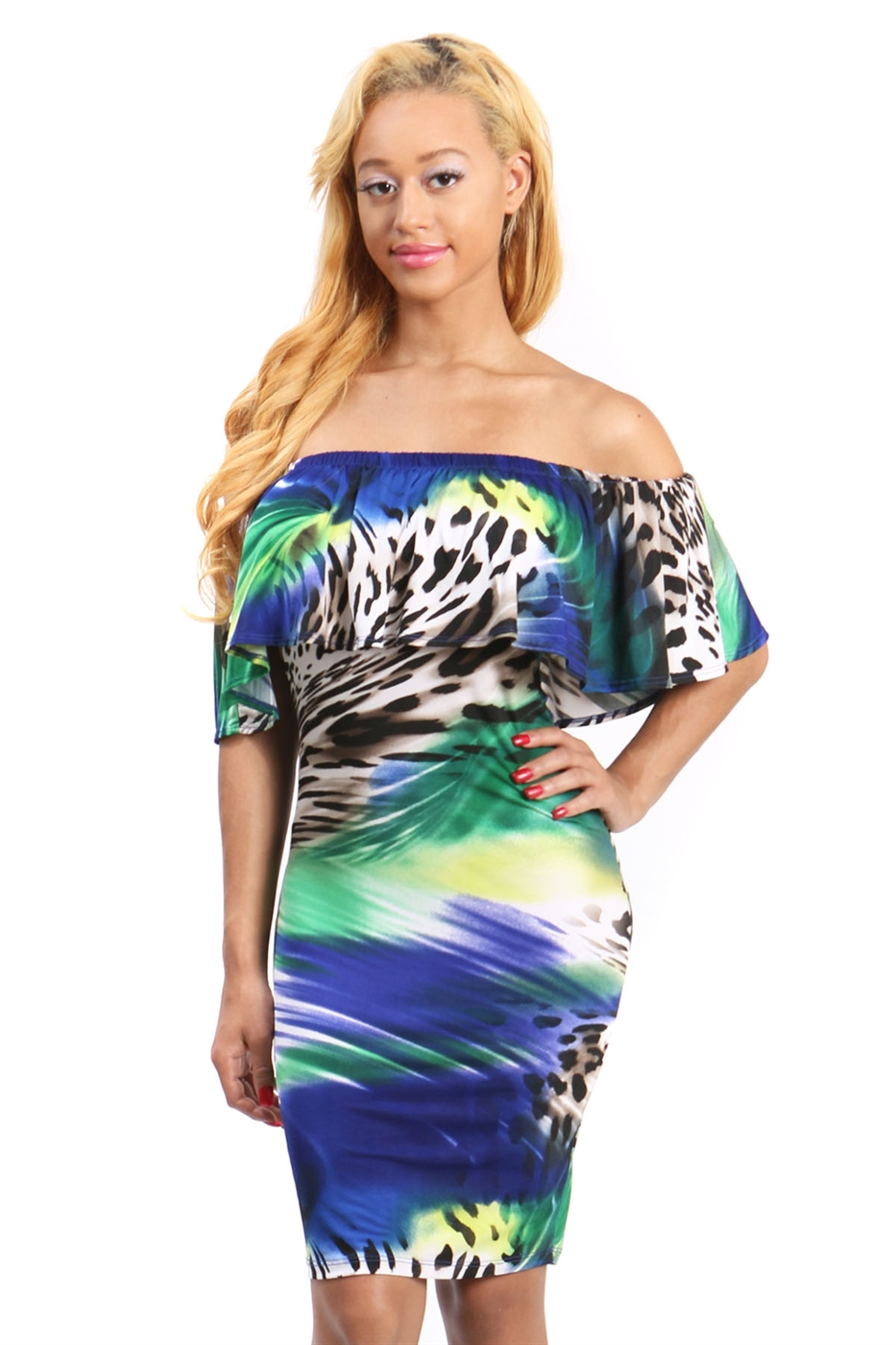 Off shoulder bodycon dress - orangeshine.com