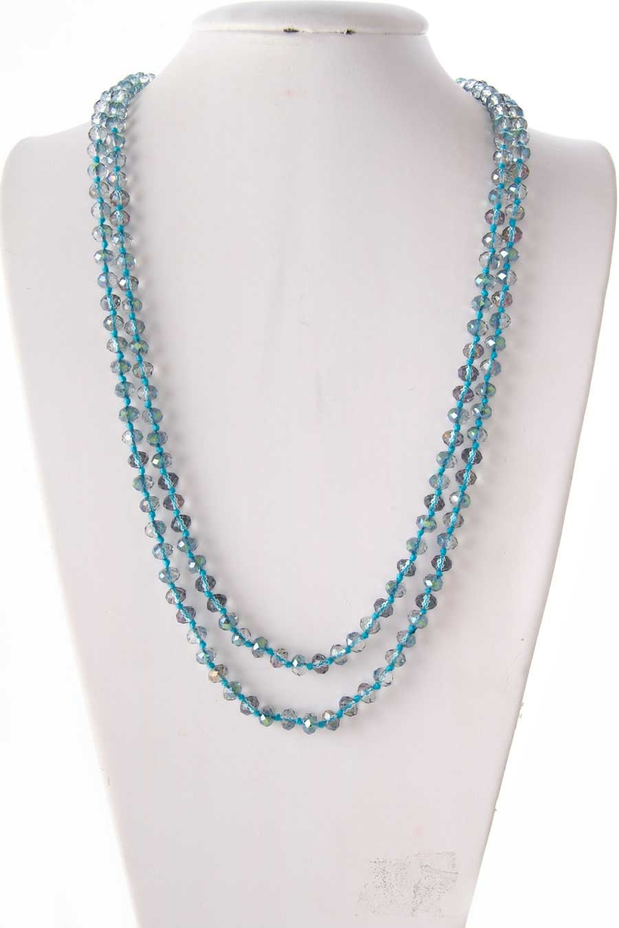 GLASS BEADS KNOTTED NECKLACE - orangeshine.com