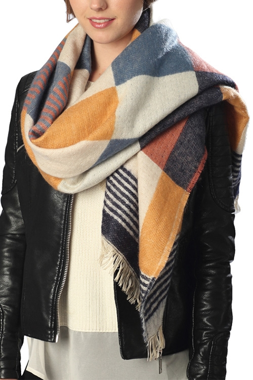 Check Pattern Scarf - orangeshine.com