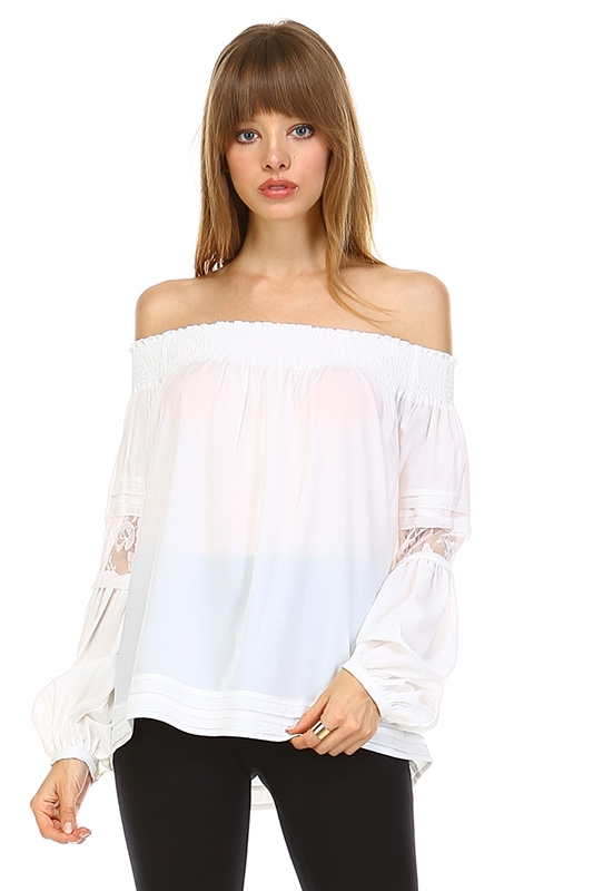 BLACK OFF SHOULDER TOP - orangeshine.com