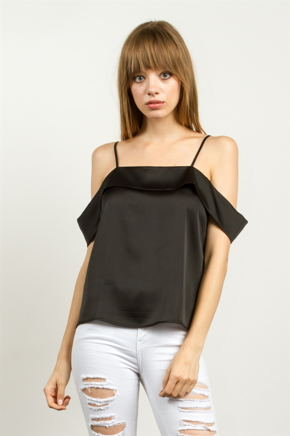 SATIN OPEN SHOULDER - orangeshine.com