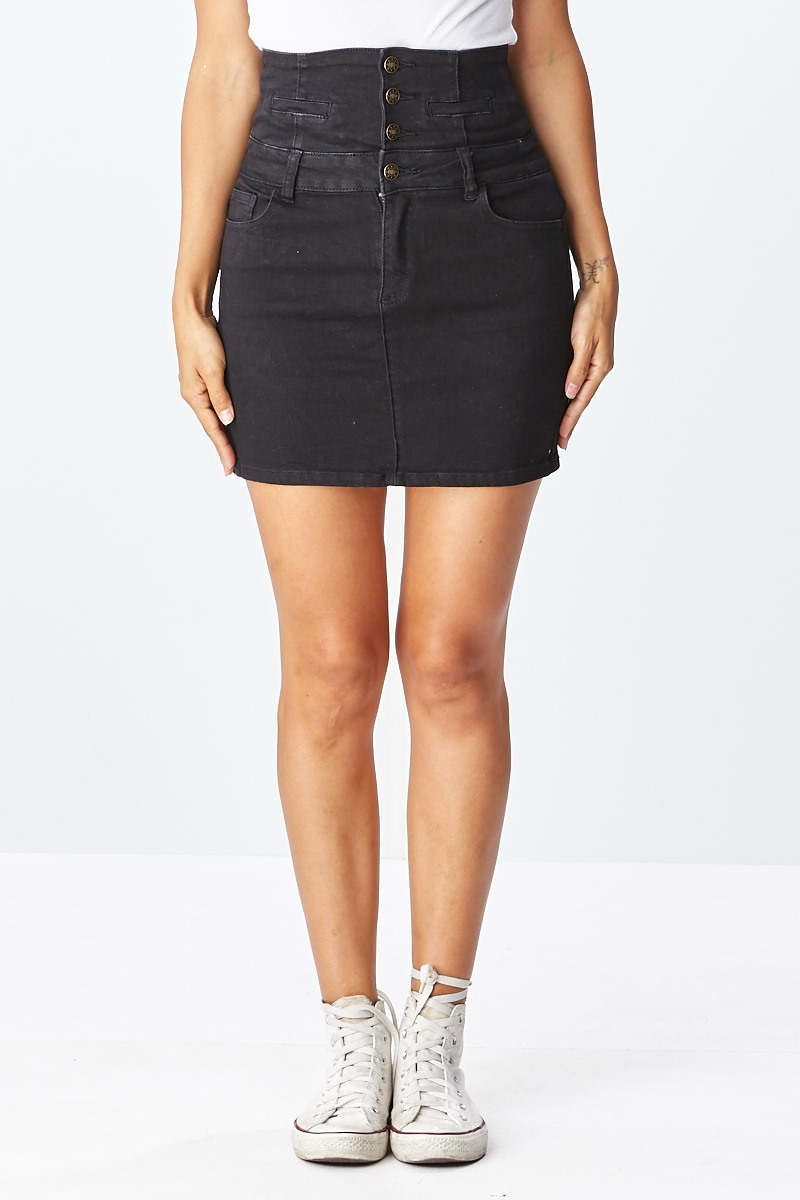 Cargo button up skirt - orangeshine.com