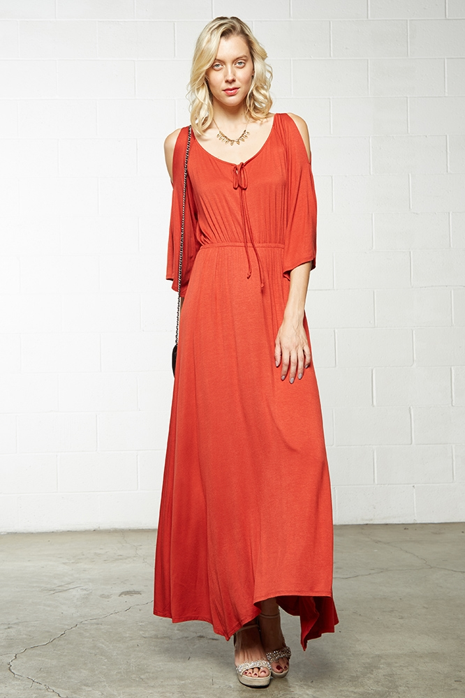 WAIST MAXI DRESS - orangeshine.com