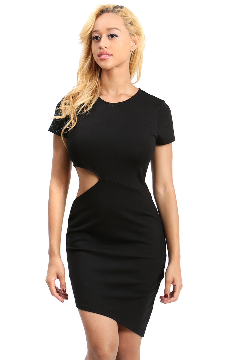 Short sleeves bodycon dress - orangeshine.com