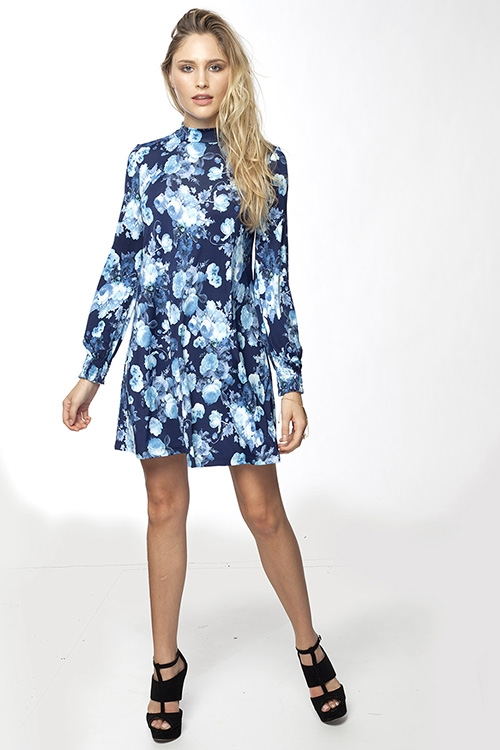 FLORAL SMOCKED DRESS - orangeshine.com