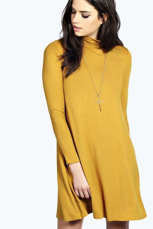 TURTLENECK SWING DRESS - orangeshine.com