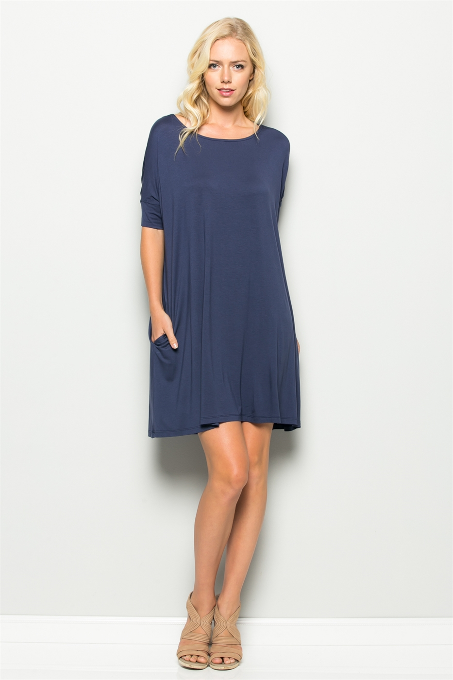 OVERSIZED POCKET DRESS - orangeshine.com