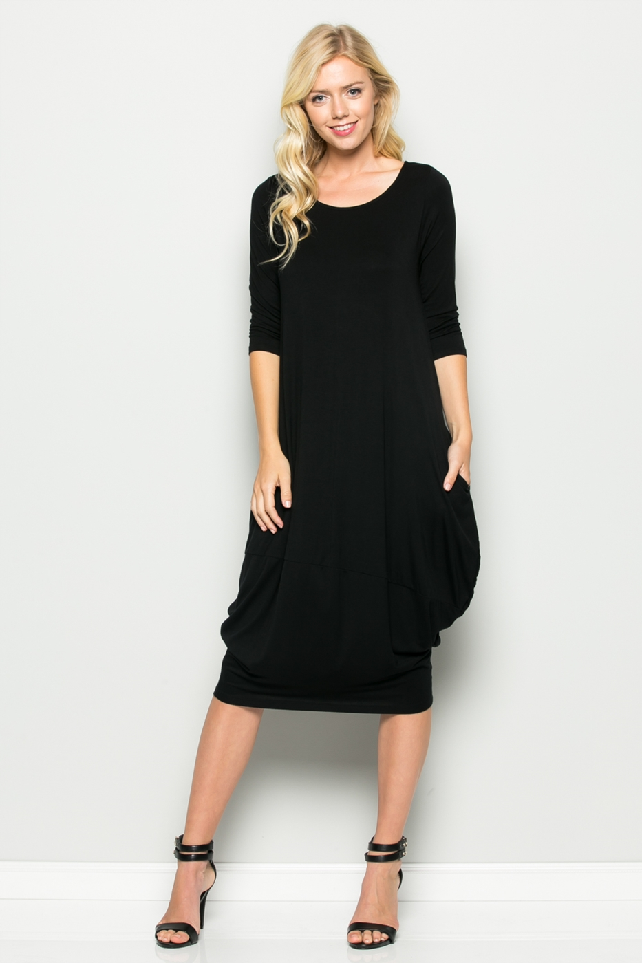 TULIP SHAPED MIDI DRESS - orangeshine.com