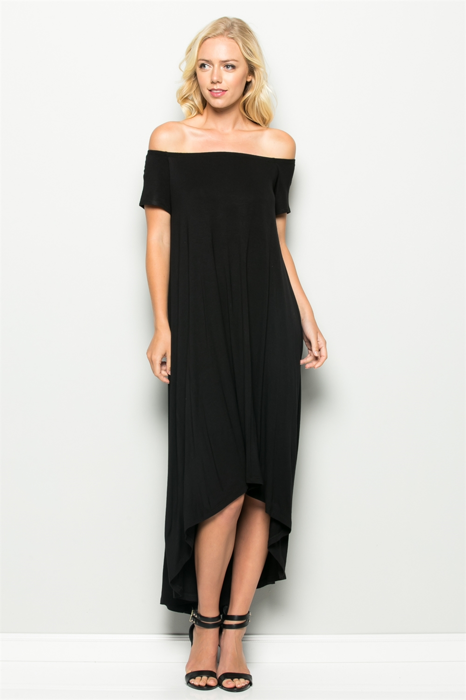 OFF SHOULDER OPEN BACK DRESS - orangeshine.com