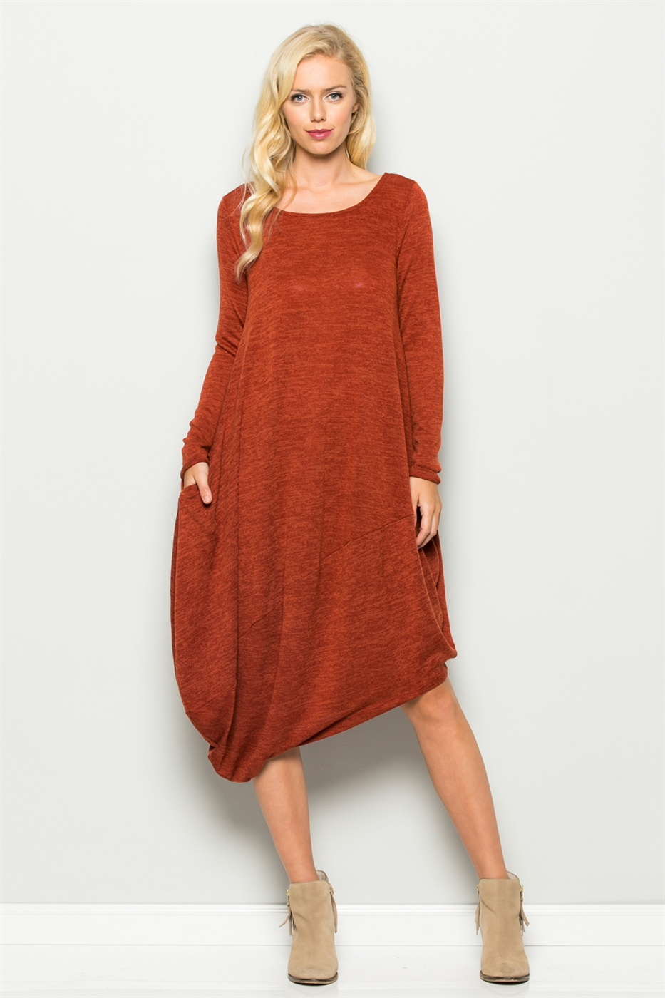 ASYMMETRIC HEM DRESS - orangeshine.com