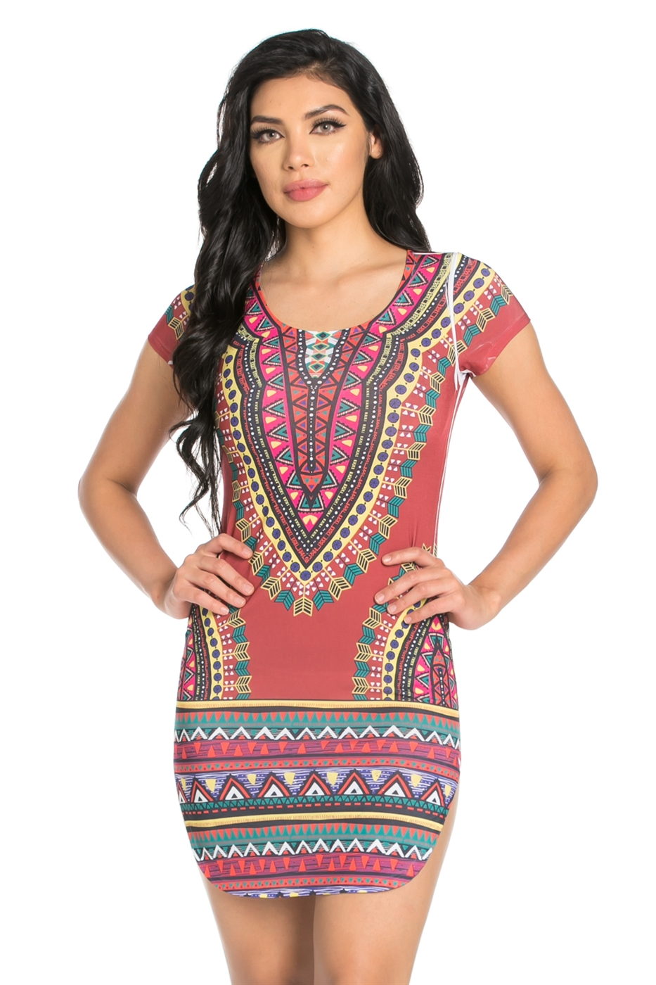 MULTI SUB DASHIKI DRESS - orangeshine.com