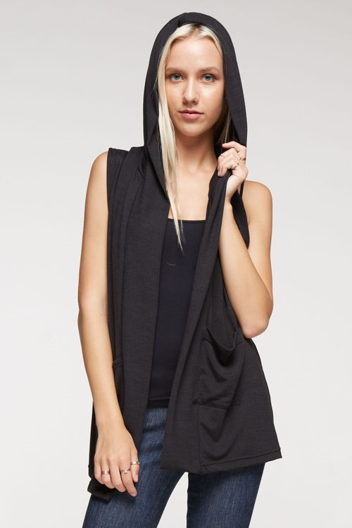 Hooded vest with pockets - orangeshine.com