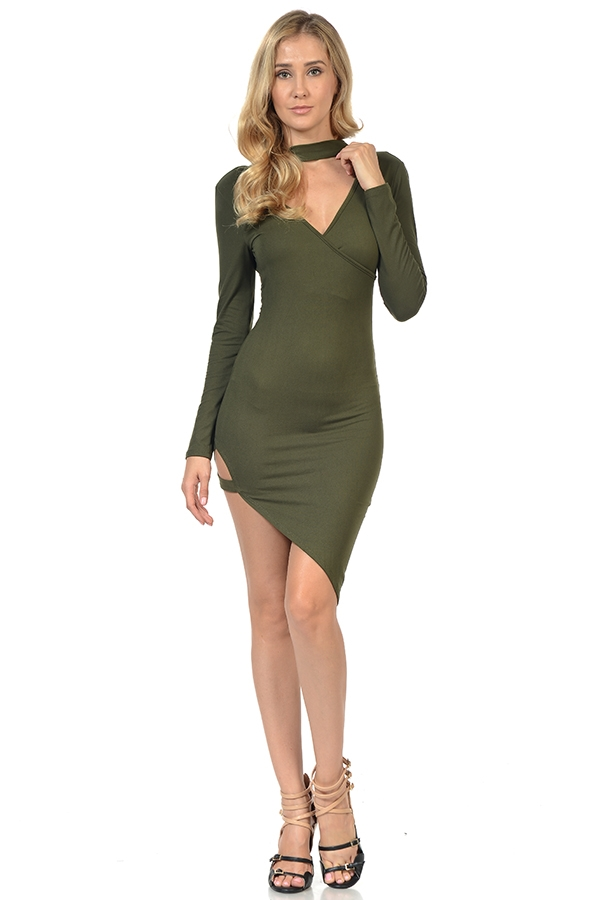 ZIP BACK BODYCON DRESS - orangeshine.com