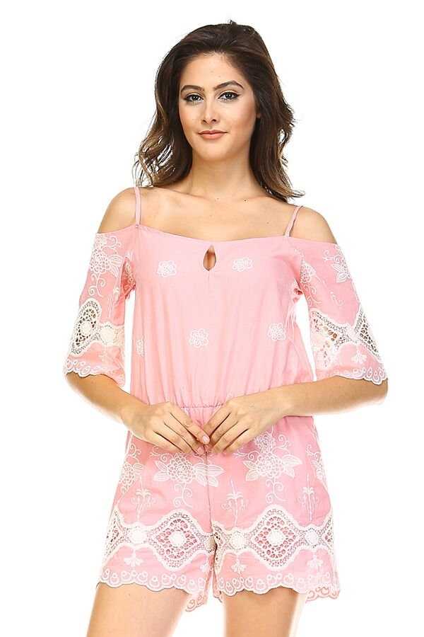 Delectable Romper - Strawberry - orangeshine.com