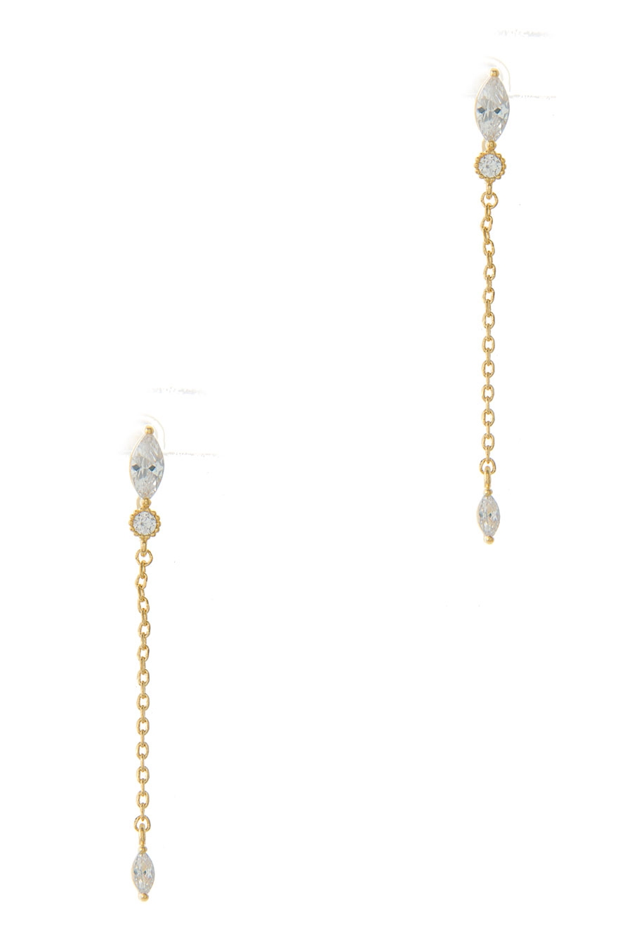 MARQUISE CZ DROP EARRING - orangeshine.com